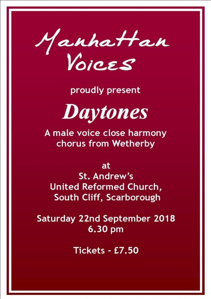 Manhattan Voices' and Daytones' Concert - Not to be missed!